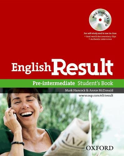 9780194129558: English Result: Pre-Intermediate: Student's Book with DVD Pack: General English four-skills course for adults