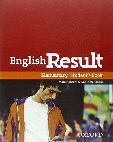 9780194129589: English result. Elementary. Student's book-Workbook-Key. Con espansione online. Per le Scuole superiori. Con DVD. Con CD-ROM. Con Multi-ROM