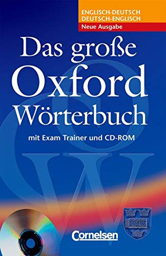 9780194300049: Das Grosse Oxford Worterbuch Book, CD & Trainer Pack