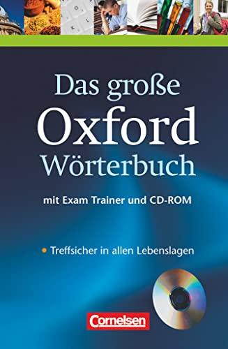 9780194300049: Das Grosse Oxford Worterbuch Book, CD & Trainer Pack