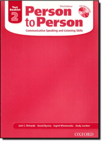 9780194302302: Person to Person, Third Edition Level 2: Test Booklet (with Audio CD): Test Booklet (with Audio CD) Level 2