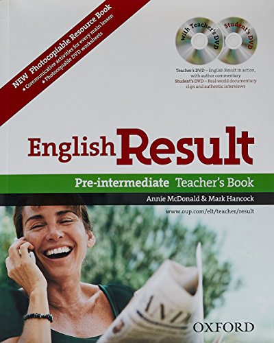 9780194306607: English Result: Pre-Intermediate: Teacher's Resource Pack with DVD and Photocopiable Materials Book: General English four-skills course for adults