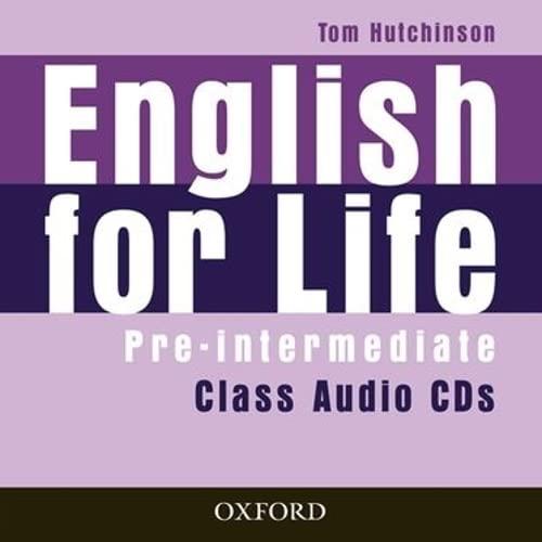 9780194307437: English for Life Pre-Intermediate: Class Audio CD