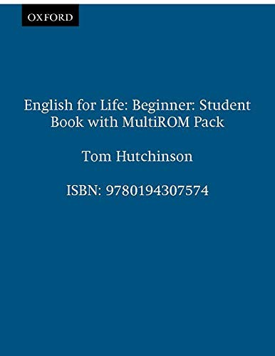 9780194307574: English for Life Beginner : Student's Book with Multi-rom