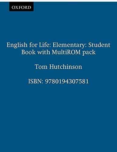 9780194307581: English for Life Elementary: Student's Book with Multi-rom