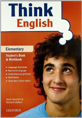 9780194308663: Think english. Elementary. Student's book-Workbook-Culture book. Con espansione online. Con CD Audio. Per le Scuole superiori