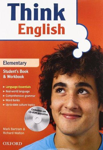9780194308670: Think english. Elementary. Student's book-Workbook-Culture book. Con espansione online. Per le Scuole superiori. Con CD Audio. Con CD-ROM