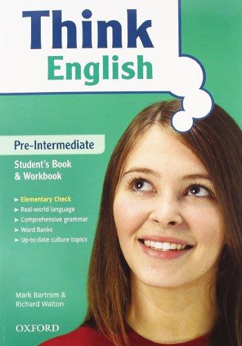 9780194308687: Think english. Pre-Intermediate. Student's book-Workbook-Culture book. Con espansione online. Con CD Audio. Per le Scuole superiori