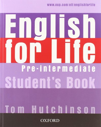 9780194308939: English for life. Pre-intermediate. Multipack. Student's book-Workbook. Con espansione online. Per le Scuole superiori. Con CD-ROM
