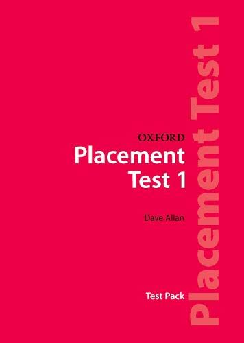 9780194309004: Oxford Placement Tests 1: Test Pack