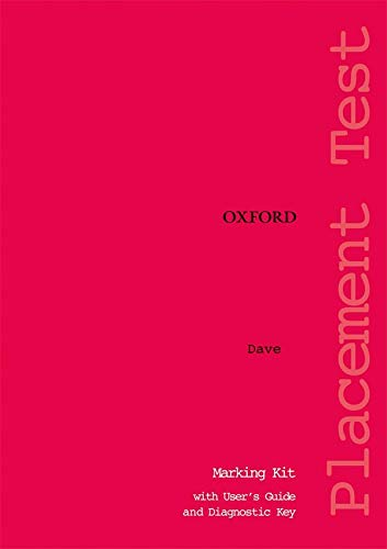 9780194309066: Oxford Placement Tests 1: Marking Kit Test Revised Ed: Marking Kit Test pack 1