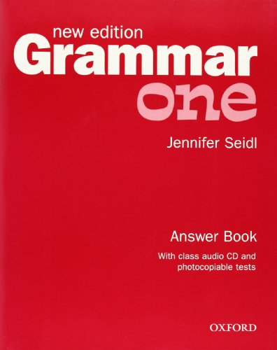 9780194309462: Grammar: One: Answer Book and Audio CD Pack