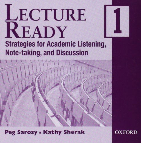 9780194309660: Lecture Ready 1 Audio CDs: Strategies for Academic Listening, Note-taking, and Discussion (Lecture Ready Series)
