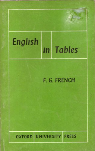 9780194313117: English in Tables