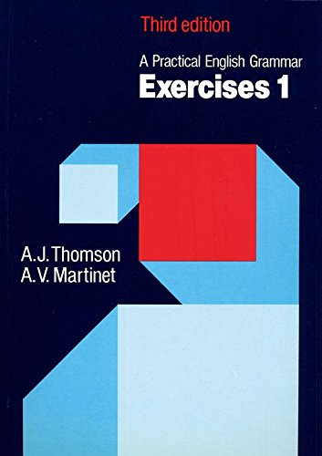 9780194313438: A Pratical English Grammar Exercice, tome 1