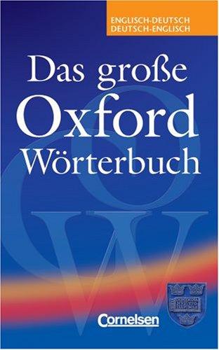9780194314954: Das Grose Oxford Worterbuch (English and German Edition)