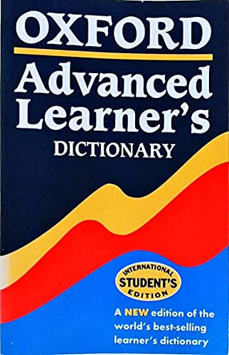 9780194315500: Oxford Advanced Learner's Dictionary, Sixth Edition: International Student's Edition (Paperback)