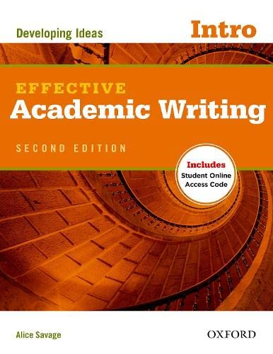 9780194323451: Effective Academic Writing Second Edition: Introductory: Student Book