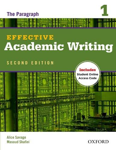 9780194323468: Effective Academic Writing 2e Student Book 1 (Effective Academic Writing Second Edition)