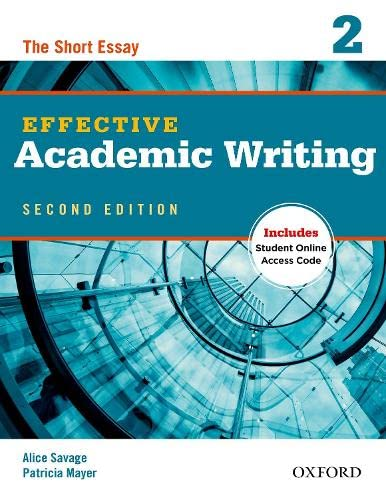 9780194323475: Effective Academic Writing 2e Student Book 2 (Effective Academic Writing Second Edition)