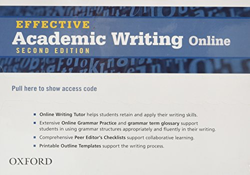 9780194323505: Effective Academic Writing Second Edition: Student Access Code Card (All levels)
