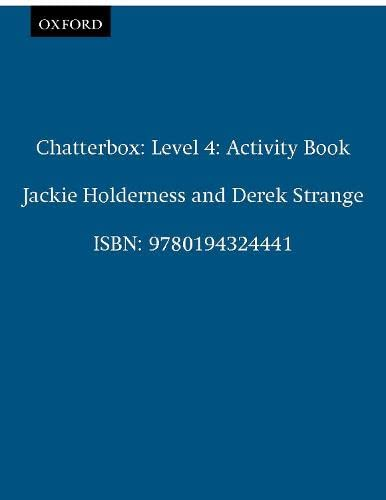 9780194324441: Chatterbox 4: Activity Book: Activity Book Level 4 - 9780194324441