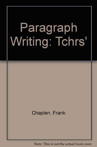 9780194327091: Paragraph Writing: Tchrs'