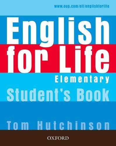 9780194331111: English for life. Elementary. Ital comp-Student's book-Workbook. With key. Con espansione online. Per le Scuole superiori. Con Multi-ROM