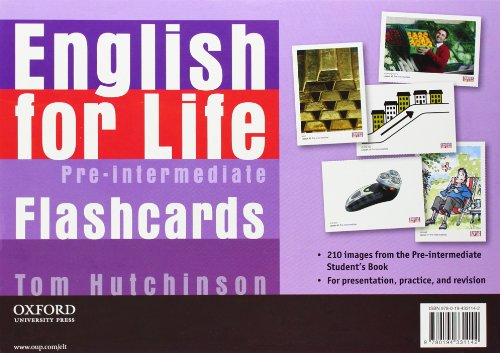 9780194331142: English for Life: Pre-intermediate: Flashcards