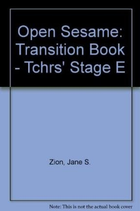 Open Sesame Transition Book, Stage E (English as a Second Language Series) Teacher's Book: ...