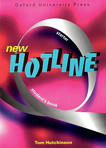 9780194357555: NEW HOTLINE STARTER LEVEL. student's book