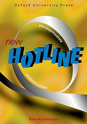 New Hotline Pre-Intermediate: Student's Book: Tom Hutchinson