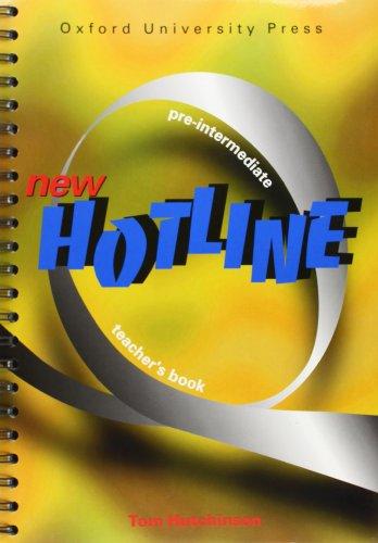 New Hotline Pre-Intermediate: Teacher's Book: Hutchinson, Tom