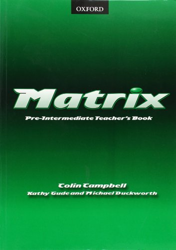 9780194369701: Matrix Pre-Intermediate: Teacher's Book