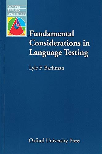 9780194370035: Fundamental Considerations in Language Testing
