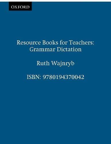 9780194370042: Grammar Dictation (Resource Books for Teachers)