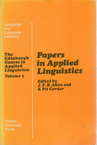 Papers in applied linguistics: ALLEN, J.P.B. and