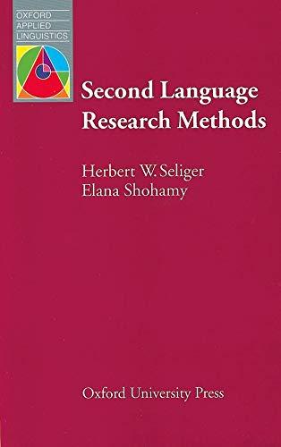 Second Language Research Methods: Elana Shohamy