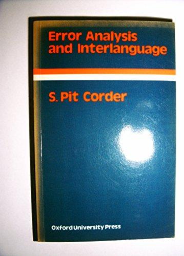 9780194370738: Error Analysis and Interlanguage