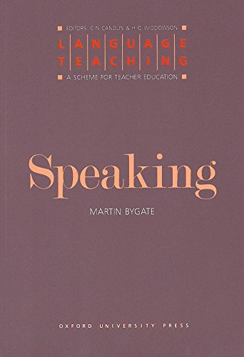 9780194371346: Language Teaching. a Scheme for Teacher Education: Speaking