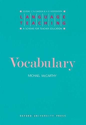9780194371360: Vocabulary (Language Teaching: A Scheme for Teacher Education)