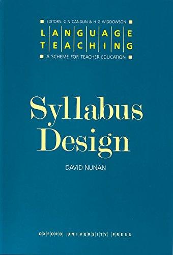 9780194371391: Language Teaching. a Scheme for Teacher Education: Syllabus Design
