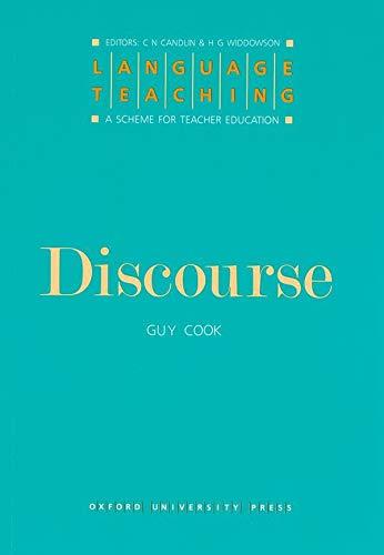 9780194371407: Discourse (Language Teaching: A Scheme for Teacher Education)