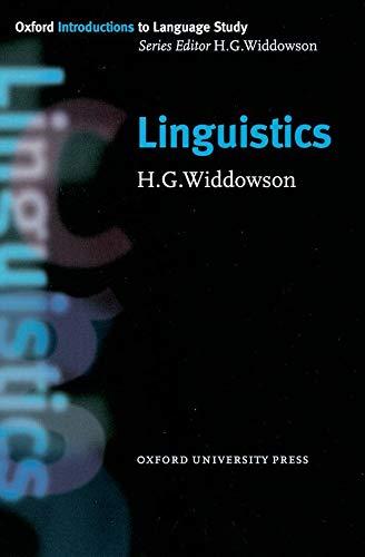 9780194372060: Linguistics (Oxford Introduction to Language Study Series)
