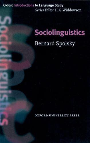 9780194372114: Oxford Introduction to Language Study: Sociolinguistics