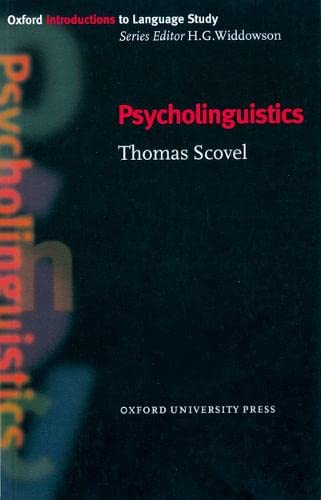 9780194372138: Oxford Introduction to Language Study: Psycholinguistics