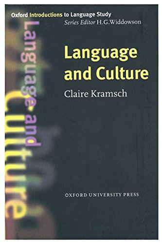 9780194372145: Language and Culture (Oxford Introductions to Language Study)
