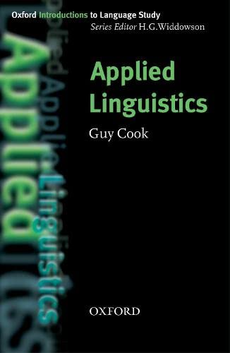 9780194375986: Applied Linguistics (Oxford Introduction to Language Study Series)