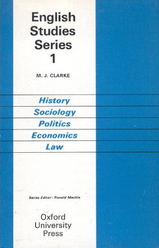 9780194377119: History, Sociology, Politics, Economics and Law (English Studies)