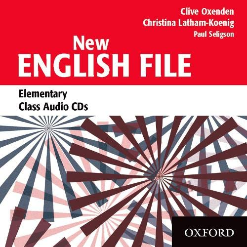 9780194384308: New English File: Elementary: Class Audio CDs (3)